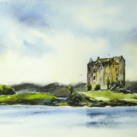 Castle Stalker, Original Watercolour Painting.