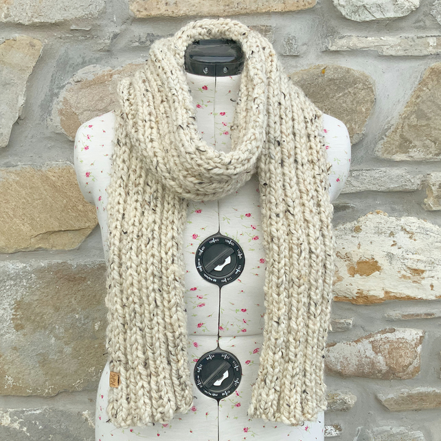 Chunky Scarf. Hand Knitted Scarf. Winter Scarf. Woolly Scarf. Cosy Scarf. Scarf.
