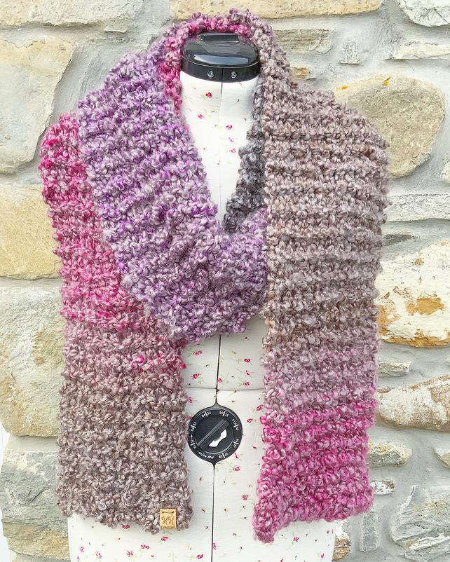 Chunky Scarf. Super Soft Scarf. Hand Knitted Scarf. Woollen Scarf. Winter Scarf.