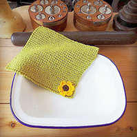 Pack Of 3 Farmhouse Style Washcloths. Facecloth. Reusable  Dishcloth.