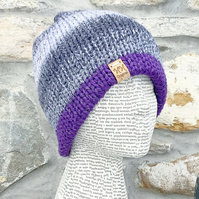 Reflective Hat. Reversible Hat. Knitted Hat. Woolly Hat. Beanie. Slouchy.