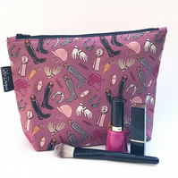 Large cotton makeup bag