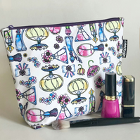 Make up bag , perfume bottles