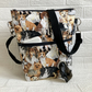 Dog walking crossbody bag, mixed breeds