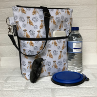 Dog walking bag, crossbody bag, shoulder bag ,Boxers