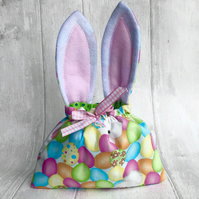 Easter bunny bags pastel eggs