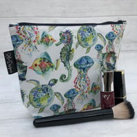 Make up bag, ocean life