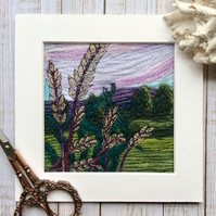 Embroidered landscape.