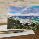 Seascape printed greetings card.