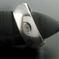 Scottish silver 8mm large wedding ring, handmade original design.