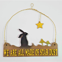 Hare Wall Hanging, Hare Hanging,  We All All Made Of StarDust