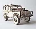 Land Rover Defender Model Kit, Land Rover Model, Wooden Model, 3D Model,