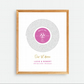 PERSONALISED SONG LYRIC Record Print - Wedding Anniversary Love (UNFRAMED) Pnk