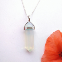 Opalite Pendulum Point Pendant Necklace