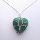 Aventurine Tree of Life Pendant Necklace