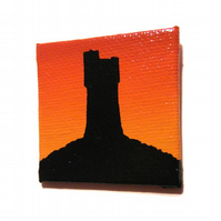 Castle Hill at Sunset Fridge Magnet