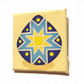 Handpainted Blue and Yellow Pysanky Fridge Magnet