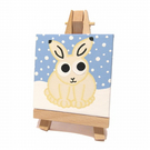 Arctic Hare in the Snow Mini Painting
