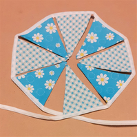 Bright Blue Miniature Bunting – 8 Flags