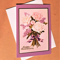 Lilac Floral Anniversary Card