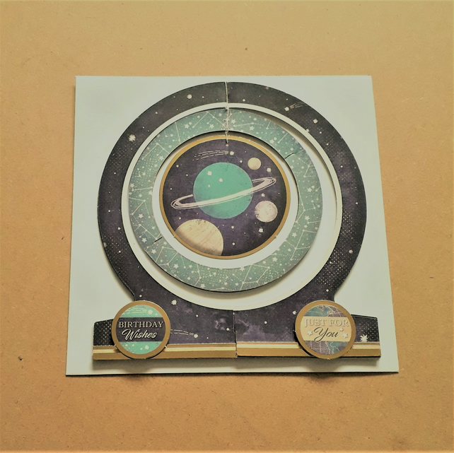Mobile Astronomical Birthday card