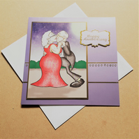 Anniversary Card – Couple Dancing