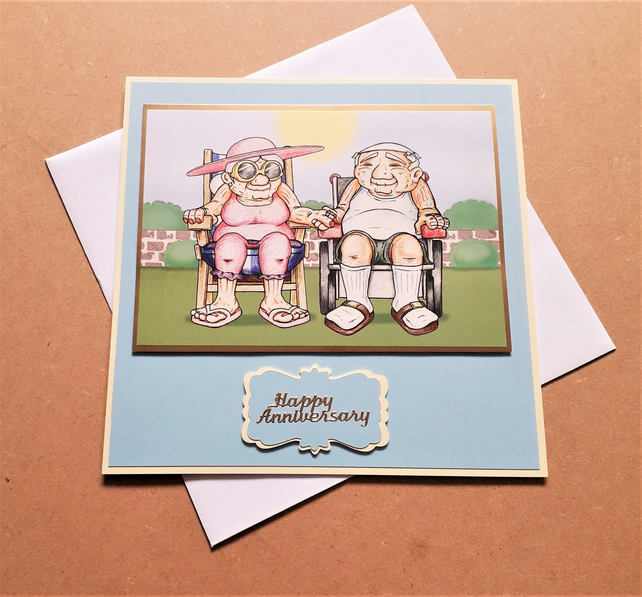 Sunny Day Wedding Anniversary Card