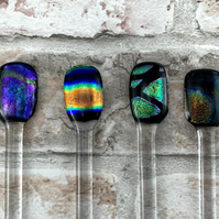 Dichroic Fused Glass Gin and Cocktail Stirrers