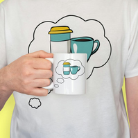 coffee mug and shirt set