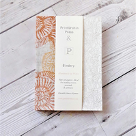 A6 Fossil Print Sketchbook or Journal
