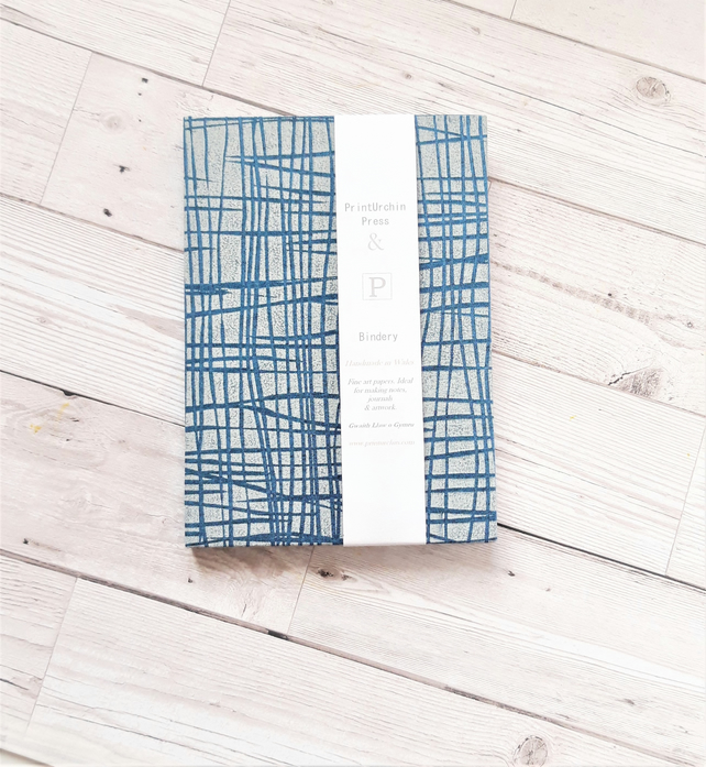 A5 handprinted Sketchbook or Journal in 'St Ives' design