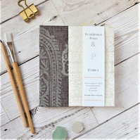 Paisley Watercolour Sketchbook or Journal & Fabriano Paper