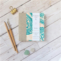 Paisley Watercolour Sketchbook or Journal. Hand printed, Fabriano Artistico