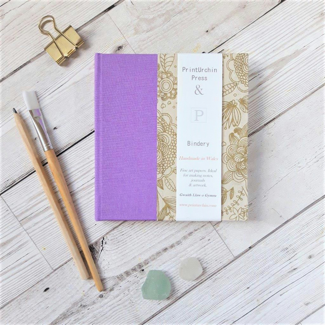 Flora Gold Watercolour Sketchbook or Journal with Fabriano paper