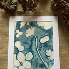Bleached Wet Cyanotype Print