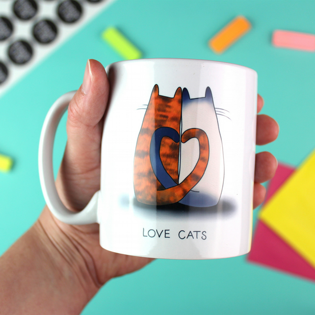 Love Cats Ceramic Mug