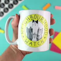 Cat Neighbourhood Watch Ceramic Mug