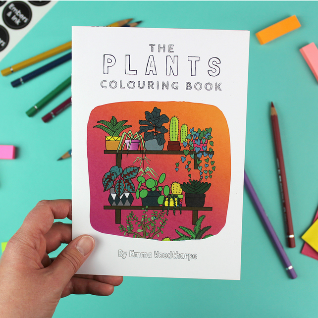 Plants Colouring Book for Children and Adults by Emma Woodthorpe