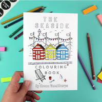 The Seaside Plastic Free Colouring Book by Emma Woodthorpe