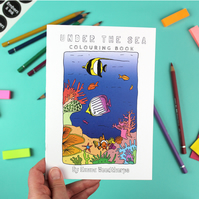 Under the Sea Plastic Free Colouring Book by Emma Woodthorpe