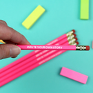 Write Your Own Story Motivational Pencil