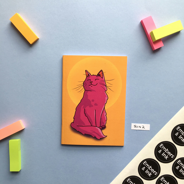 SLIGHT SECONDS SALE Sunset Cat A6 Notebook 'SUN 2'