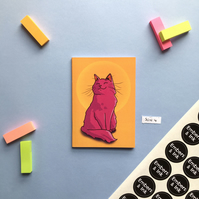SLIGHT SECONDS SALE Sunset Cat A6 Notebook 'SUN 4'