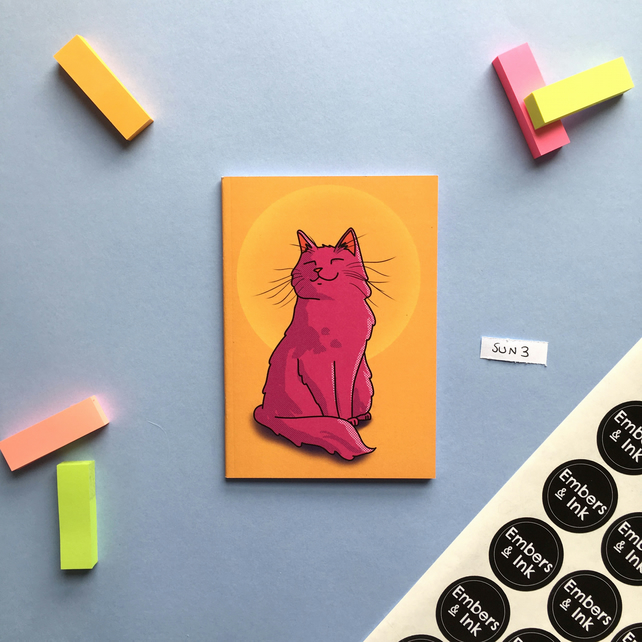 SLIGHT SECONDS SALE Sunset Cat A6 Notebook 'SUN 3'