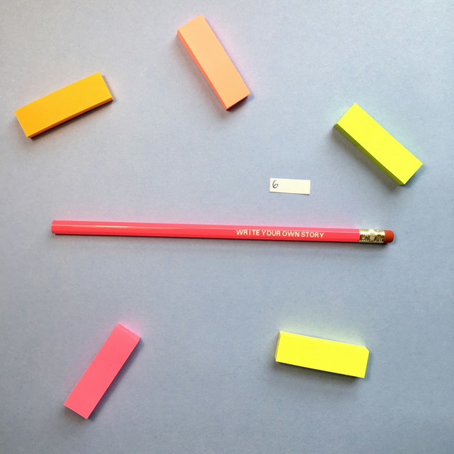SLIGHT SECONDS SALE Write Your Own Story Pencil 6