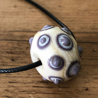 lampwork glass mindfulness bead, positivity, therapy, meditation, relaxation