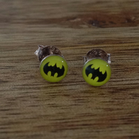 Batman Sterling Silver Stud Earrings