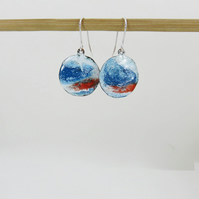 Colourful Enamel Drop Dangle Painted Art Earrings