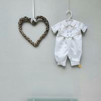 0-3 months Christening Romper 'Milo', Baptism Outfit. Infant Wedding Wear.