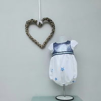 12-18 months Baby Girl Bubble Romper. Infant Wedding Wear, Child Party Outfit.